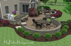 Backyard Patio Ideas With Grill Patio With Grill Surround ...