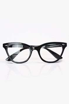 Ladies' black retro cat eye glasses from Bleudame
