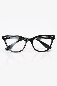 Ladies' black retro cat eye glasses from Bleudame