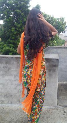 Punjabi suit Punjabi Dress Design, Punjabi Suit Neck Designs, Neck Designs For Suits, Beautiful Girl Photo, Cute Girl Photo, Girl Photo Poses, Cool Girl Pictures, Girl Photos, Chudidhar Designs