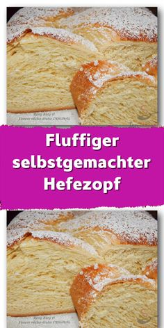 Fluffiger selbstgemachter Hefezopf The yeast braid was intended for today's breakfast but if I look Banana Dessert Recipes, No Bake Desserts, Easy Desserts, Baking Recipes, Cake Recipes, No Bake Cake, Food Cakes, Bakery, Food Porn