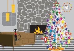 Retro Christmas Home - Boxed Holiday Christmas Greeting Cards - Set of 10 Cards and Envelopes, http://www.amazon.com/dp/B005XN77Z0/ref=cm_sw_r_pi_awdm_IsrLsb1YSZVJR