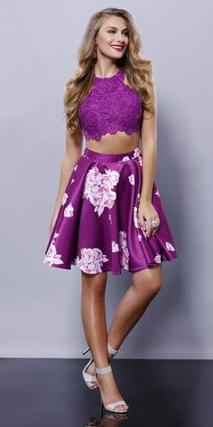 Crop top and short dress, 100%polyester