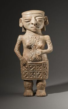 Standing Female Figure with Earspools Colombia, Sinú, Sculpture Slip-painted ceramic Height: 13 in. Width: 6 in. Depth: 4 in. Colombian Art, Body Adornment, Ceramic Painting, Ancient Art, Old World, South America, Sculptures, Ceramics, Female