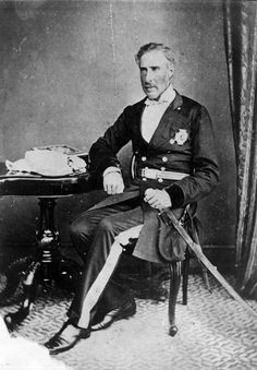 Seated portrait of Sir George Grey, in a military uniform. Taken by an unknown photographer. Sir George Grey. Ref: 1/2-067938-F. Alexander Turnbull Library, Wellington, New Zealand. http://natlib.govt.nz/records/23119508
