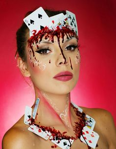 Bloody poker Halloween Makeup