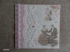 Voorbeeldkaart - 50 jaar getrouwd - Categorie: Hand-Snijtechnieken - Hobbyjournaal uw hobby website