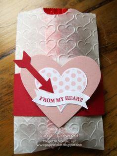 Valentine Treat Holder Groovy Love