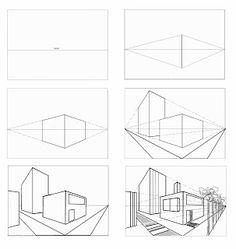 tweepuntsperspectief gebouwen - Google zoeken