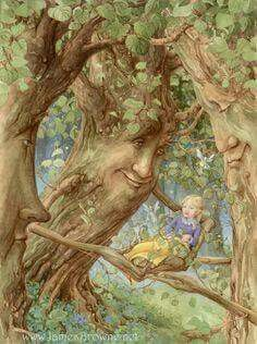 Enchanted Forest Trees and Girl Signed Print Illustration via Etsy Art And Illustration, Illustration Pictures, Book Illustrations, Fantasy Kunst, Fantasy Art, Art Fantaisiste, Photo D Art, James Brown, Fairy Art