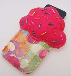 Cupcake Phone Cases -  The Danielle London Etsy Shop is Full of Tasty Tech Treats