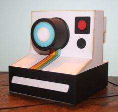 3D Polaroid Camera - created using SVG from Lettering Delights.
