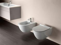 GSI ceramic | PURA Washbasin 100x50 - Wc & Bidet 55x36 #GSIceramica #BathroomDesign #Washbasins #Sanitaryware