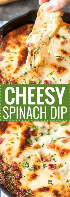 Cheesy Bacon Spinach Dip