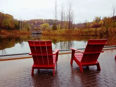 The view into the reclaimed old quarry at Evergreen Brickworks, Toronto, Canada Outdoor Chairs, Outdoor Furniture, Outdoor Decor, Brickwork, Toronto Canada, Evergreen, Home Decor, Decoration Home, Room Decor