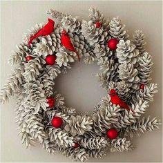 Pinecone wreath variation