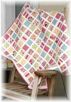 a lovely quilt idea and easy too!