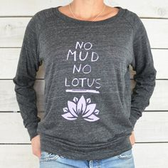 No Mud, No Lotus. - Black Slouchy Cropped Tee – SuperLoveTees | Graphic Tees Inspired By Love