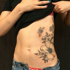 Beautiful botanical tattoo by Rachel Hauer #bee