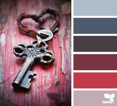 beautiful blue and berry color palette