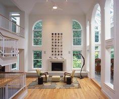 Contemporary Living Room in Great Falls, VA