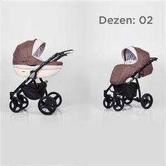 Kunert Mila kolica za bebe - crni ram, set 2u1 dezen 02