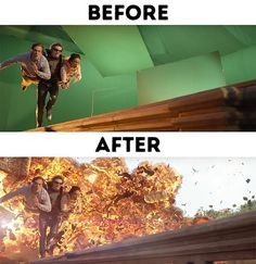 Before and After Photos That Show The Powers of Special Effects - Wow Gallery Horror Films, Horror Art, Facts About Earth, Jurassic World 2, Home For Peculiar Children, Fact Of The Day, Chroma Key, Doctor Strange, Special Effects