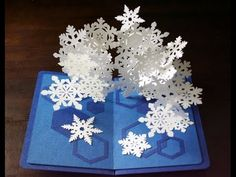 pop-up card【Snowflakes2】 (スノーフレークのポップアップカード) - YouTube