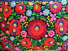 A MAGYAR HÍMZÉS Polish Embroidery, Hungarian Embroidery, Indian Embroidery, Folk Embroidery, Learn Embroidery, Modern Embroidery, Chain Stitch Embroidery, Embroidery Stitches, Embroidery Patterns
