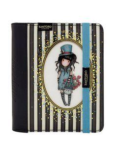 Gorjuss Stripe Organiser Journal - The Hatter | Santoro London