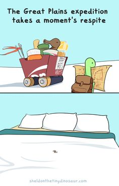 Sheldon the Tiny Dinosaur who Thinks he's a Turtle, , Are we small or are our beds big? Cute Comics, Funny Comics, Turtle Dinosaur, Sheldon The Tiny Dinosaur, Dinosaur Wallpaper, Dinosaur Pictures, Funny Memes, Hilarious, Tiny Turtle