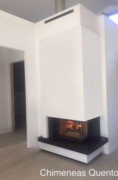 Chimenea Quento modelo Carera con Rocal G 30 angular. Great Rooms, Showroom, Home Decor, Santiago De Compostela, Fire Places, Lounges, Drive Way, Decoration Home, Room Decor