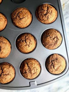 This is a recipe for Healthy Apple Cinnamon Muffins which make the perfect, simple breakfast for fall. They are made with wholesome ingredients like maple syrup, whole wheat flour, and coconut oil. Healthy Cake, Healthy Breakfast Recipes, Healthy Baking, Healthy Desserts, Healthy Recipes, Healthy Apple Cinnamon Muffins, Healthy Muffins, Cinnamon Apples, Cranberry Muffins