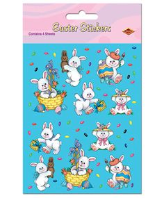 Buy Easter Bunny Stickers-Caufields.com