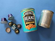 How To Make A Recycled Tin Can Owl • Craft Invaders Tin Can Crafts, Owl Crafts, Crafts To Make, Metal Crafts, Kids Crafts, Feuille Aluminium Art, Old Washing Machine, Tin Can Art, Bottle Top