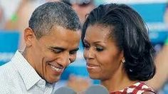 President Barack Obama and First Lady Michelle Obama.  In love.