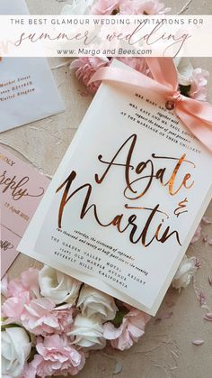 Rose gold wedding invitations rosegoldwedding rosegold weddinginvitations pinkwedding blushinviations gorgeous modern wedding invitation suite in terracotta Elegant Wedding Invitations, Gold Wedding Invitations, Wedding Stationery, Wedding Planner, Wedding Programs, Destination Wedding, Rose Wedding, Diy Wedding, Wedding Events