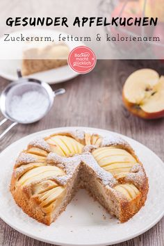 Healthy apple pie Baking makes you happy - This sunken apple pie with spelled flour is incredibly juicy and delicious. The healthy apple cake - Apple Pie Recipe Easy, Apple Recipes Easy, Apple Cake Recipes, Apple Desserts, Easy Healthy Recipes, Easy Meals, Dessert Recipes, Healthy Lunches, Healthy Breakfasts