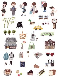 for SAVVY March 2013 Kyoto Issue illustration by Hiroko Yoshimoto