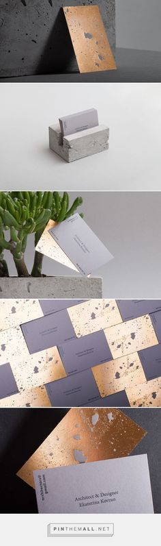 Minimalist gold foil business card design. #design #graphicdesign