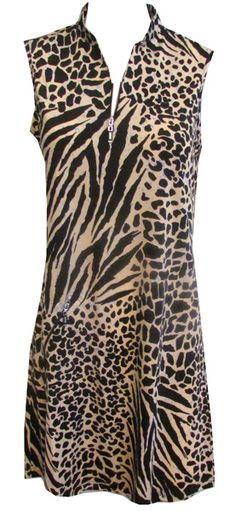 DKNY Ladies Sleeveless Golf Dresses - Animal Print Lori's Golf Shoppe