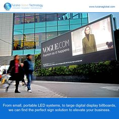 From #small, #portable #LED systems, to large #digital #display #billboards, we can find the #perfect sign #solution to elevate your #business. #TucanaGlobalTechnology #Manufacturer #HongKong