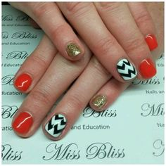 Chevron Gel Nails by Miss Bliss Nails and Education Christchurch Chevron Gel Nails, Bliss, Education, Onderwijs, Learning