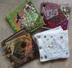 I ❤ crazy quilting . . . Spring, Summer, Autumn and Winter fabric books. by Margreet from Holland