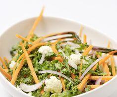 Recette Coleslaw kale et chou-fleur - Plats, Entrées froides Seaweed Salad, Aop, Site Officiel, Ethnic Recipes, Prince, Table, Tables, Desk, Tabletop