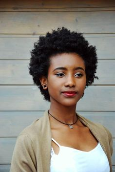 {Grow Lust Worthy Hair FASTER Naturally} ========================== Go To: http://www.shorthaircutsforblackwomen.com/natural-hair-products/ ========================== Her Kinky Fro Is So Cute!