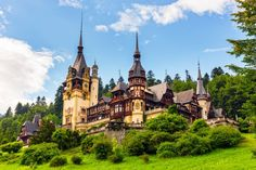 size: Stretched Canvas Print: Peles Castle Sinaia Romania : Subjects Using advanced technology, we print the image directly onto canvas, stretch it onto support bars, and finish it with hand-painted edges and a protective coating. River Cruises In Europe, European River Cruises, Into The Wild, Beautiful Castles, Beautiful Places, Magic Kingdom, Monuments, Peles Castle, Visit Romania