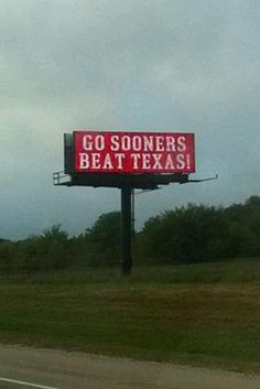 BOOMER SOONER!! It's time for the Red River Rivalry - October 12, 2013 in Dallas, Texas at The Cotton Bowl  - GO BIG RED!!