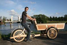 Wooden cargobike