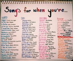 Weddings Discover Songs for when you& feeling a specific emotion playlist bullet journal Mood Songs Music Mood Upbeat Songs Good Vibe Songs What To Do When Bored Things To Do When Bored For Teens Song Suggestions Song Playlist Summer Playlist Music Mood, Mood Songs, Upbeat Songs, What To Do When Bored, Things To Do When Bored For Teens, Song Suggestions, Feeling Song, Feeling Down Quotes, Good Vibe Songs